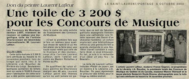 Article journal Le Saint-Laurent/Portage