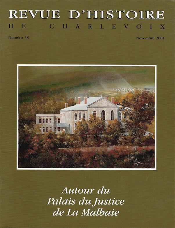 Revue d'histoire de Charlevoix - Page couverture tableaux de Laurent Lafleur