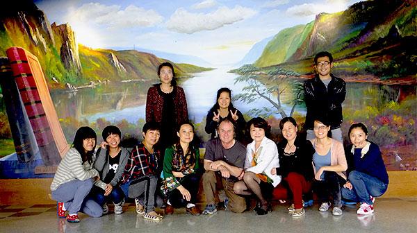 Murale en Chine de Laurent Lafleur